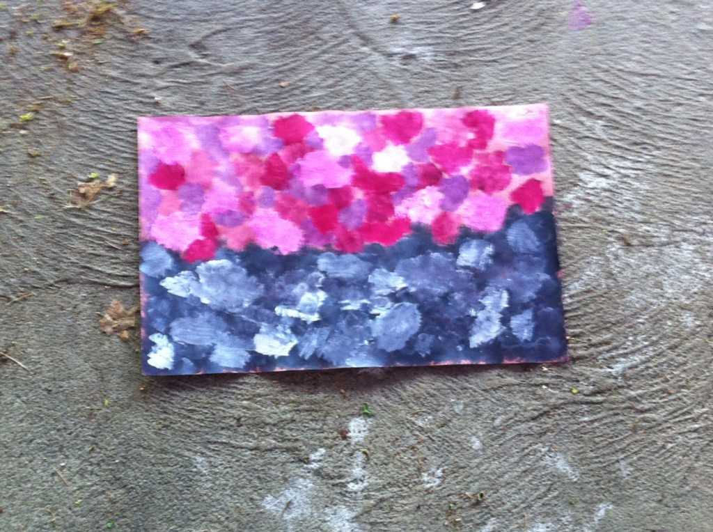 flower abstract painting