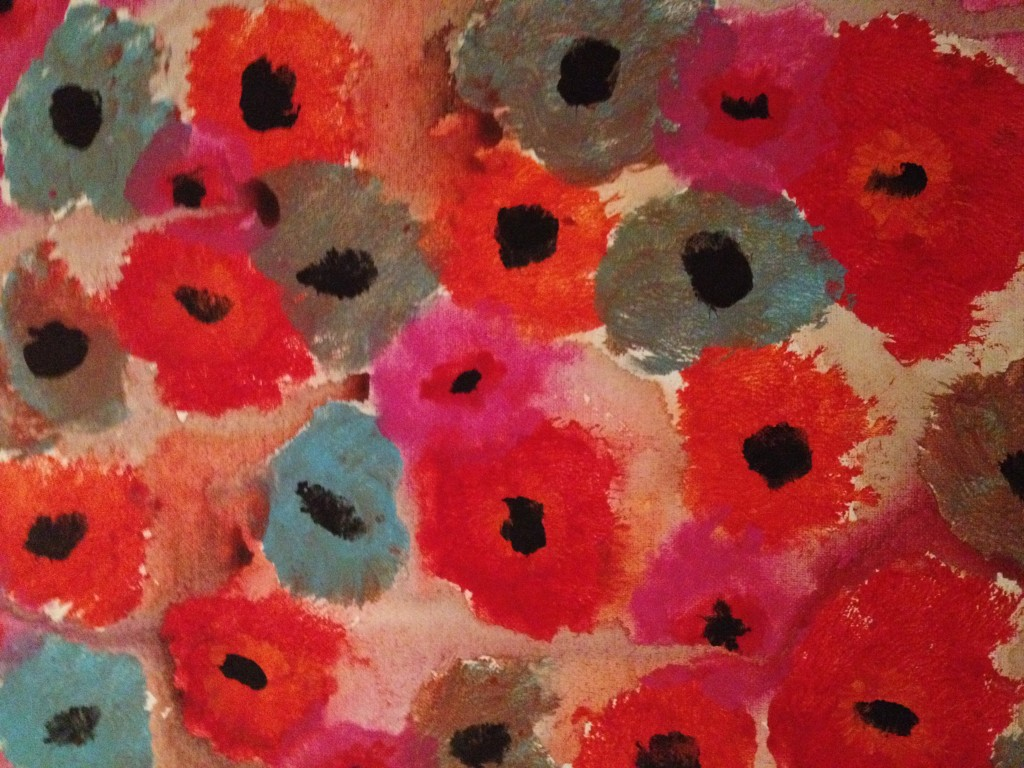 poppies like Emil Nolde, acrylic painting