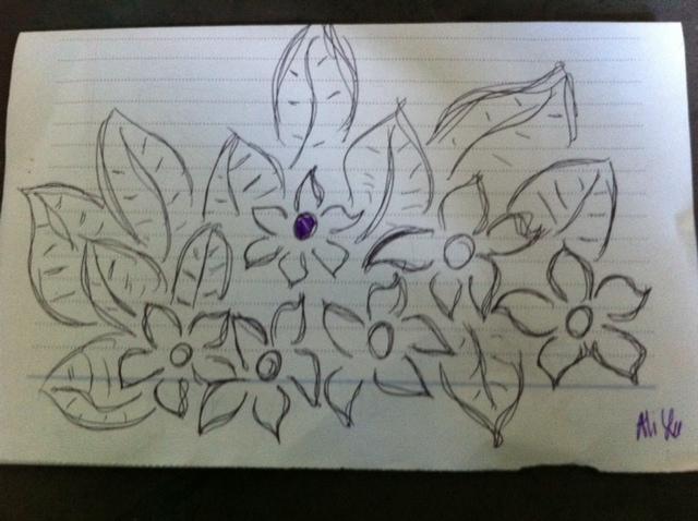 flower doodle, funny doodle,