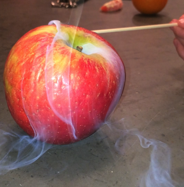 red apple on fire, apple photo