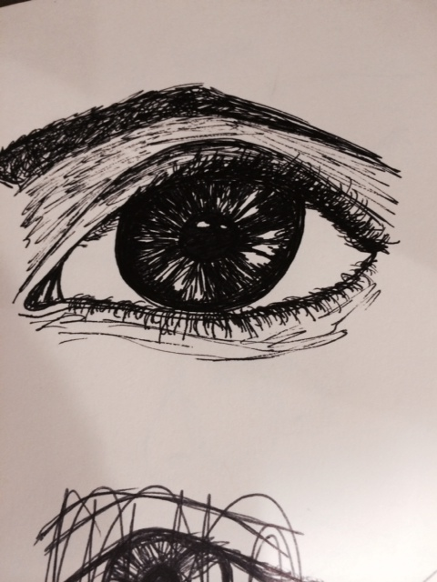 Eye Study drawing 15 year old