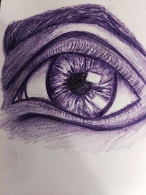 eye study drawing