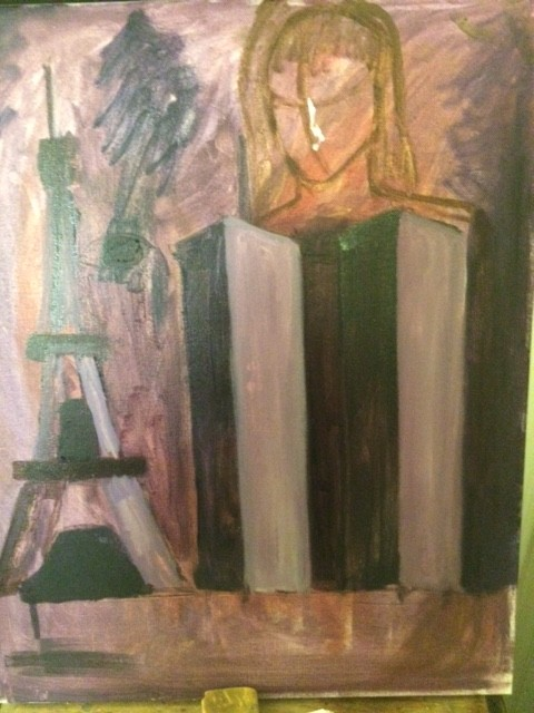 Twin Towers Painting