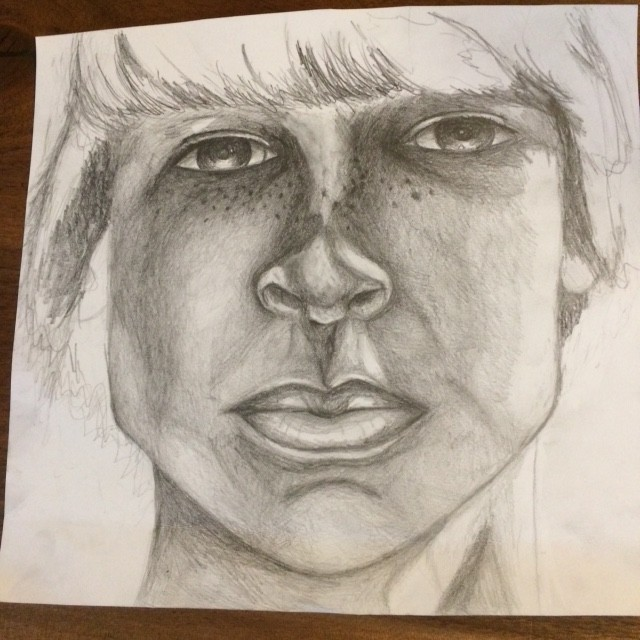 Work in Progress: Pencil Drawing of Joey