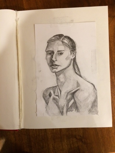 sketchbook pencil portrait