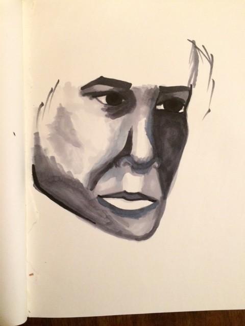 Copic Marker Portrait Study