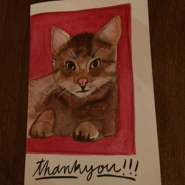 Hand Painted Thank You Card Business