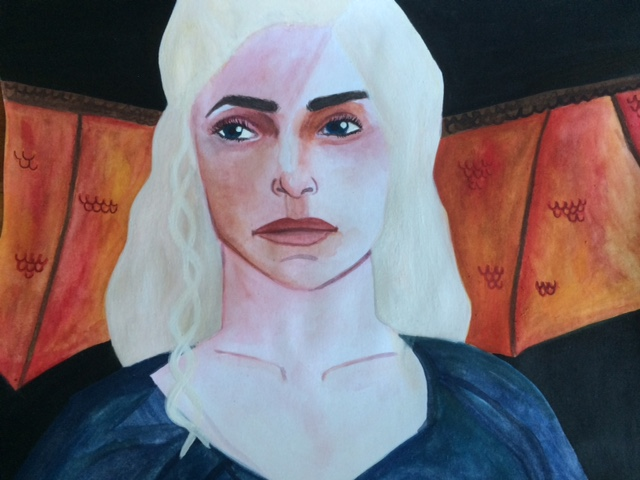 Daenerys Targaryen watercolor painting