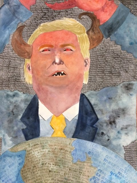 #NeverTrump artwork, Donald Trump as bottom feeder