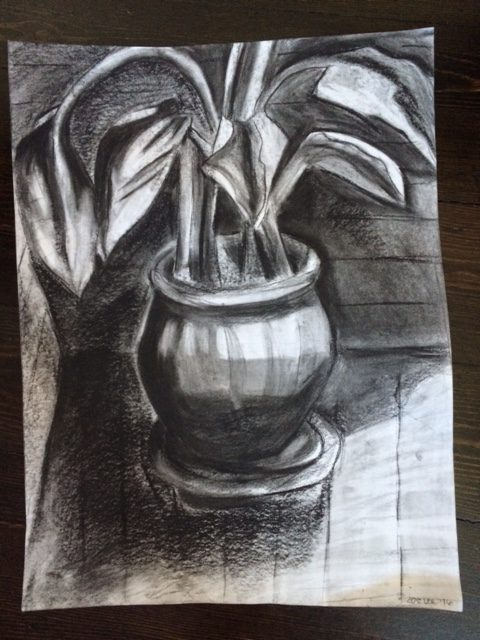 charcoal drawing assignment RISD precollege program